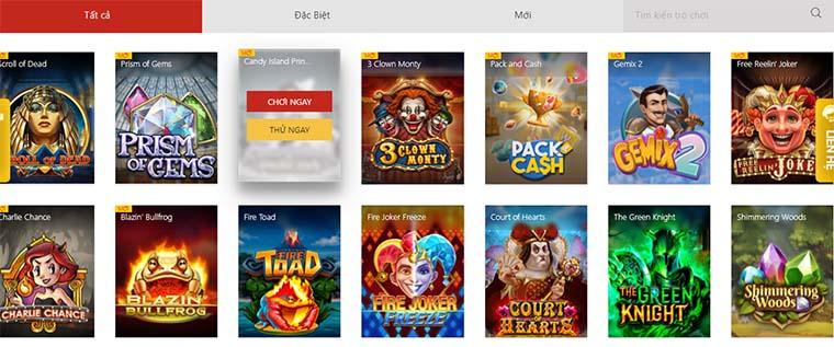 Những trò chơi slots hấp dẫn của PNG tại VN88